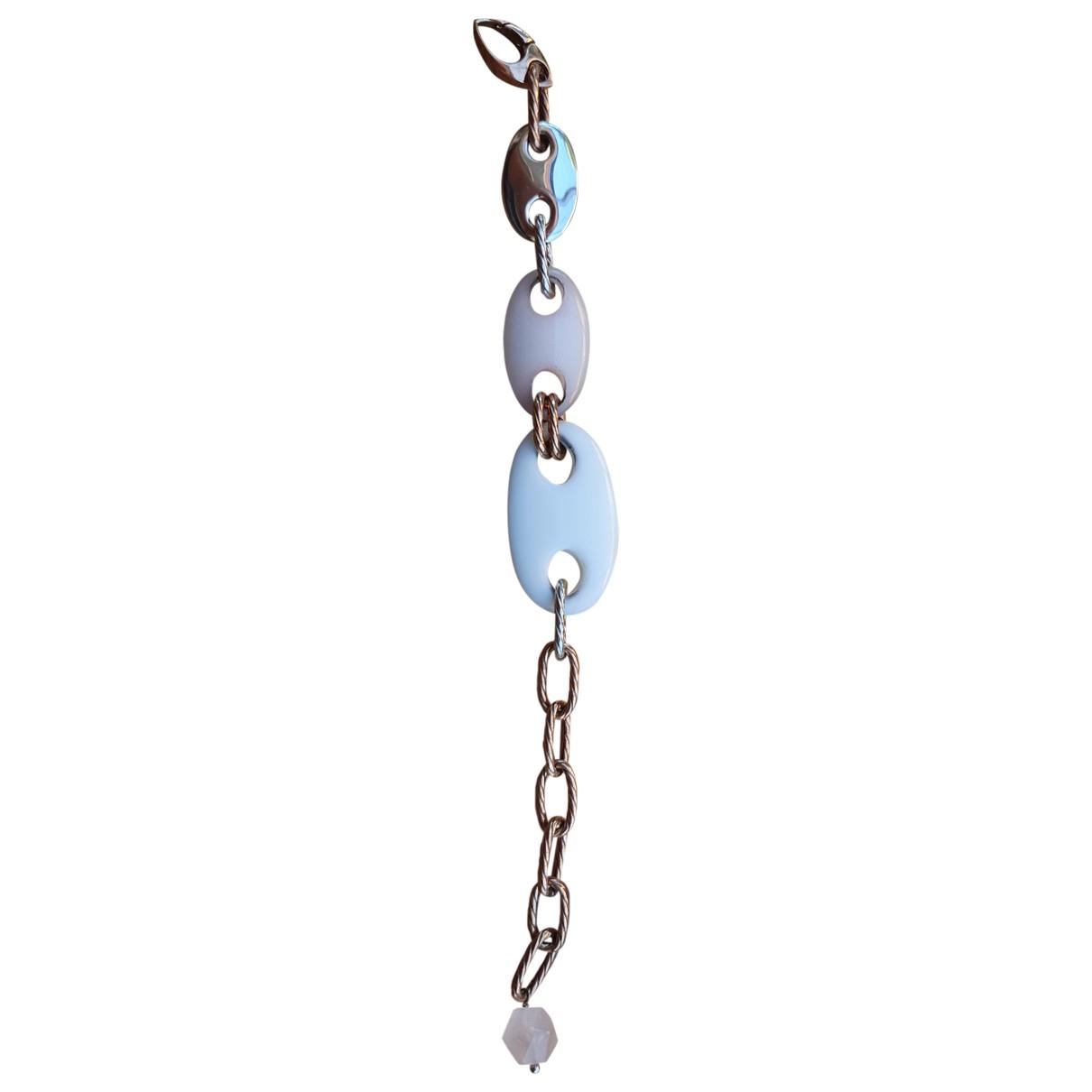 - Bracelet Agate pour femme en argent - dore