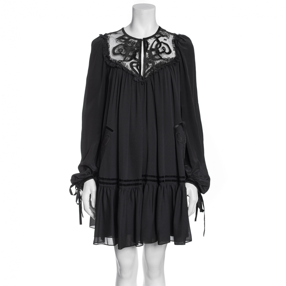 Elie Saab \N Black Silk dress for Women 36 FR