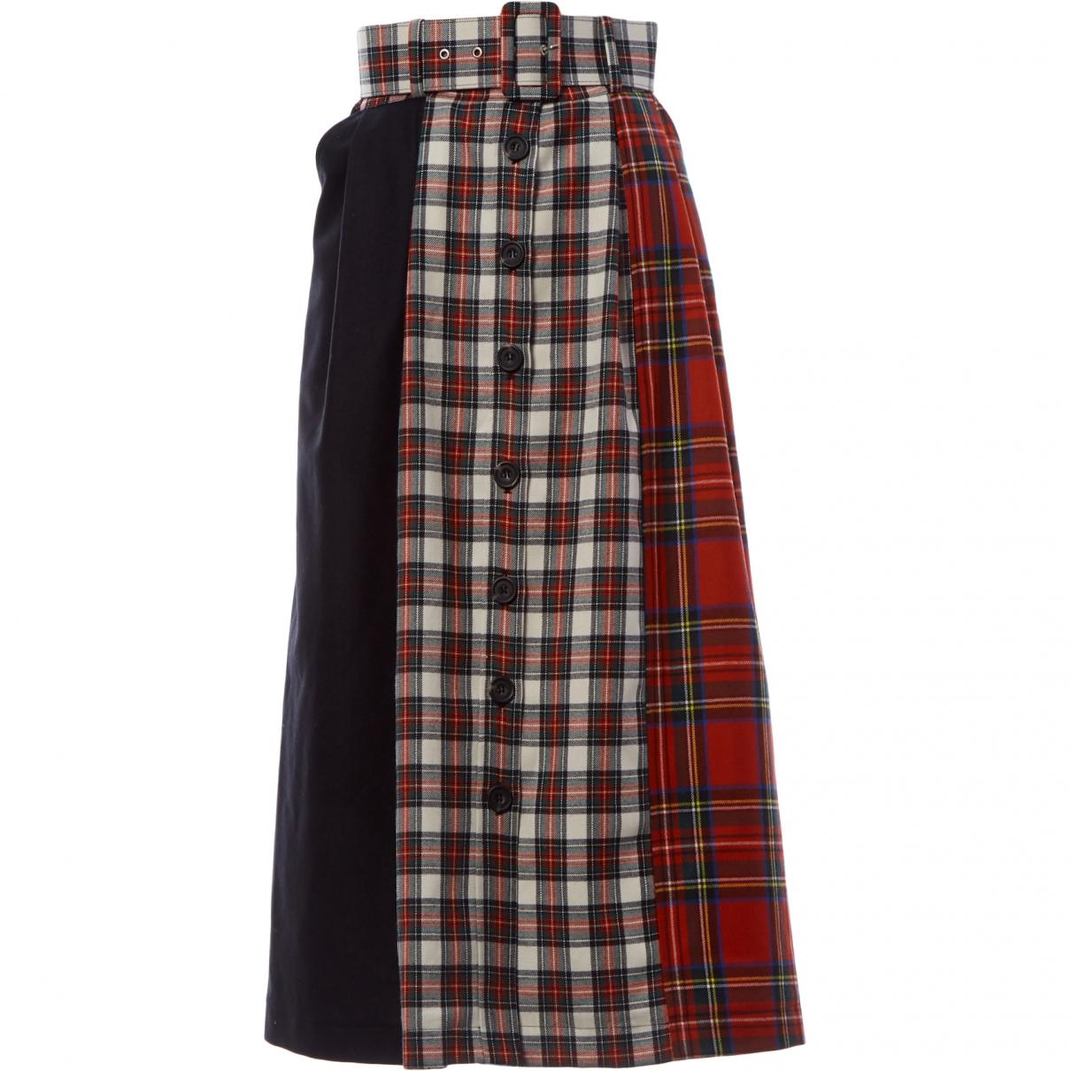 Isa Tapia - Jupe   pour femme en laine - rouge