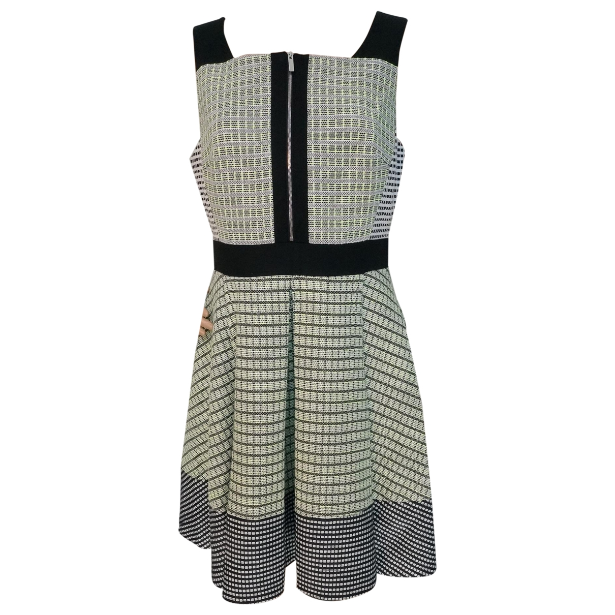 Karen Millen \N Kleid in  Gruen Baumwolle - Elasthan