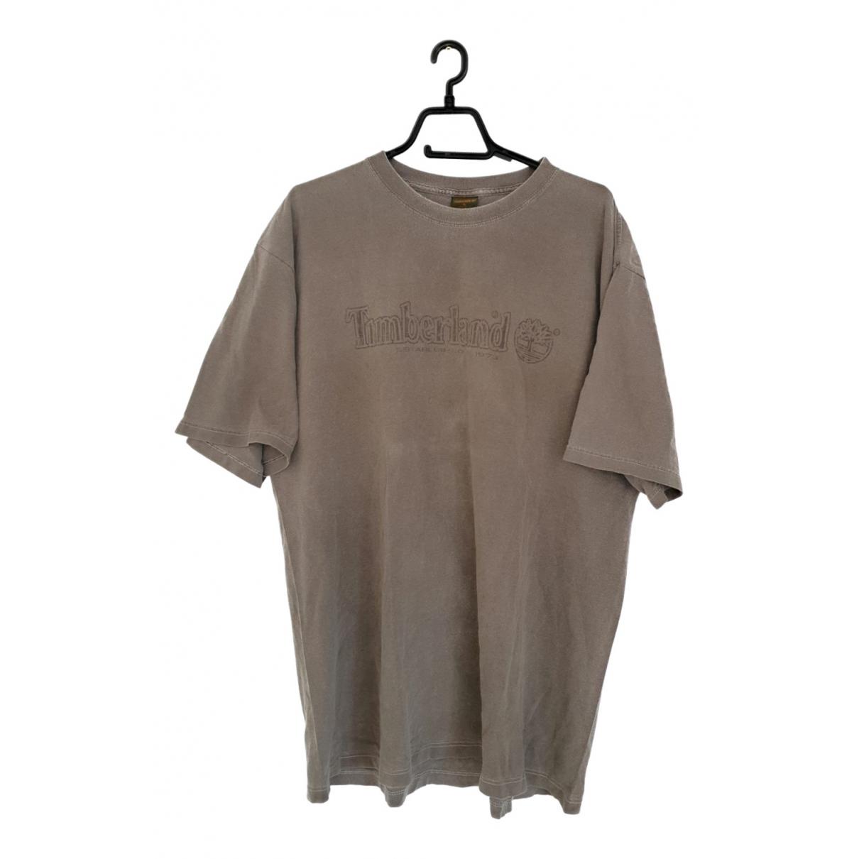 Timberland - Tee shirts   pour homme en coton - gris