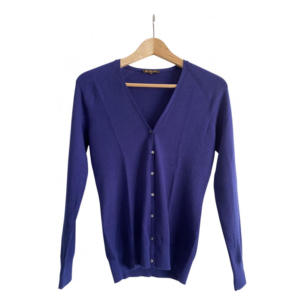 Loro Piana N Blue Cashmere Knitwear for Women 40 IT