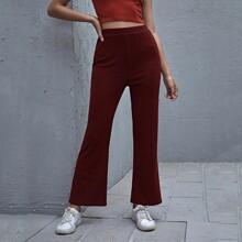 Pantalones amplios tejidos de canale unicolor