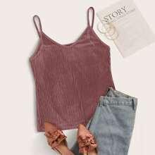 Plus Rib-knit Velvet Cami Top