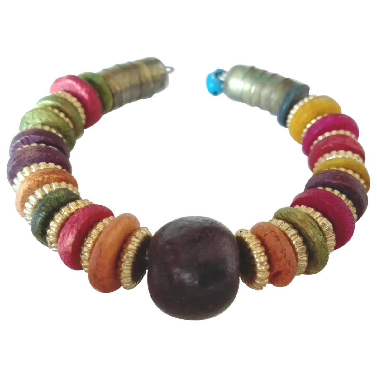 - Bracelet Motifs Ethniques pour femme en bois - multicolore