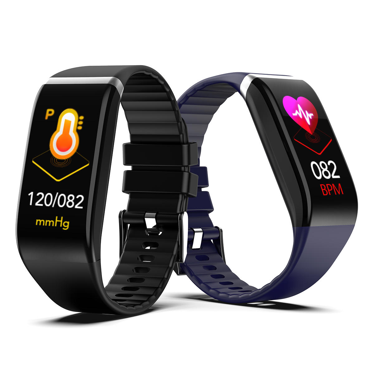 Bakeey C919 1.14' Big Screen Real-time HR Blood Pressure 3D Dynamic UI 20Days Standby Smart Watch Band