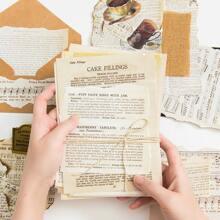 1 paquete papel de cuenta de mano con patron vintage