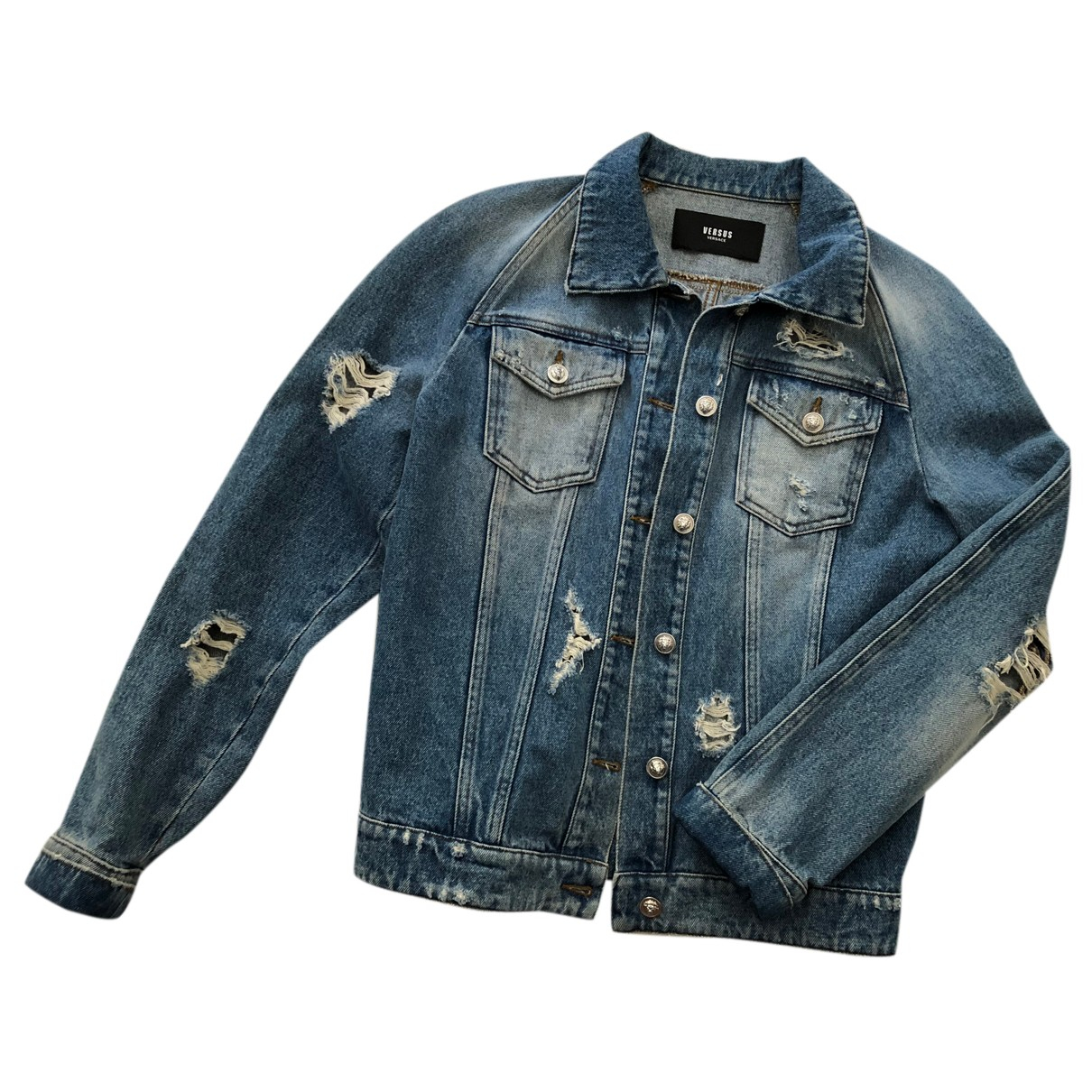 Versace \N Jacke in  Blau Denim - Jeans