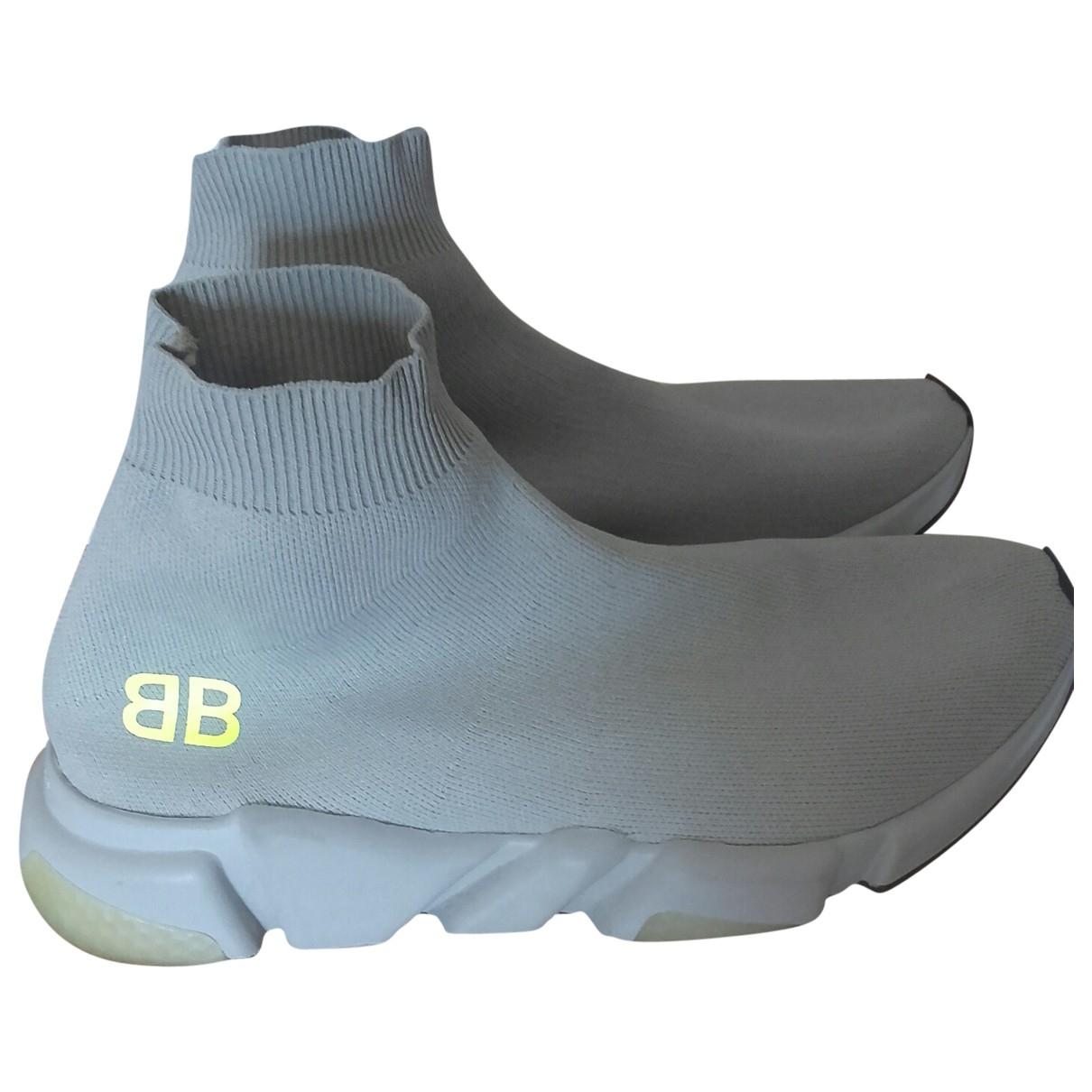 Balenciaga - Baskets Speed pour femme en toile - gris
