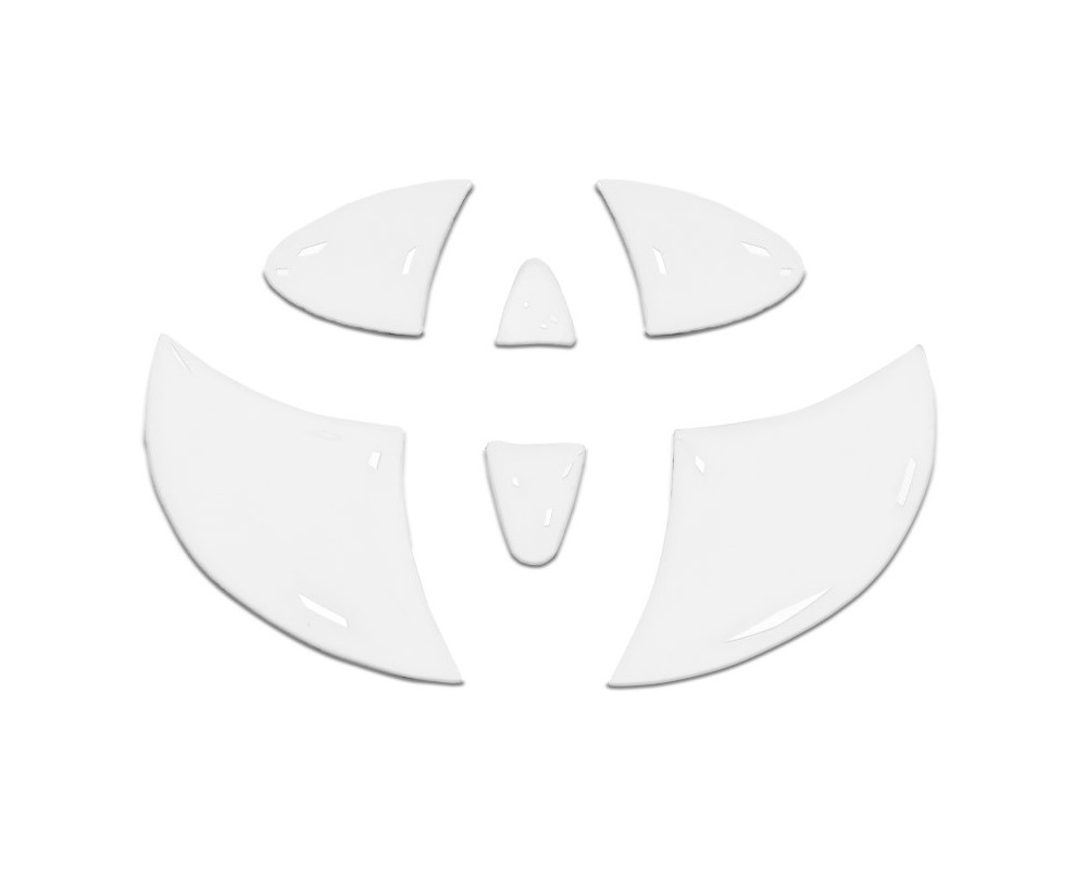 Tufskinz TAC048-WHT-G Emblem Inserts For Steering Wheel Fits 2005-2015 Toyota Tacoma 6 Piece Kit In Gloss White