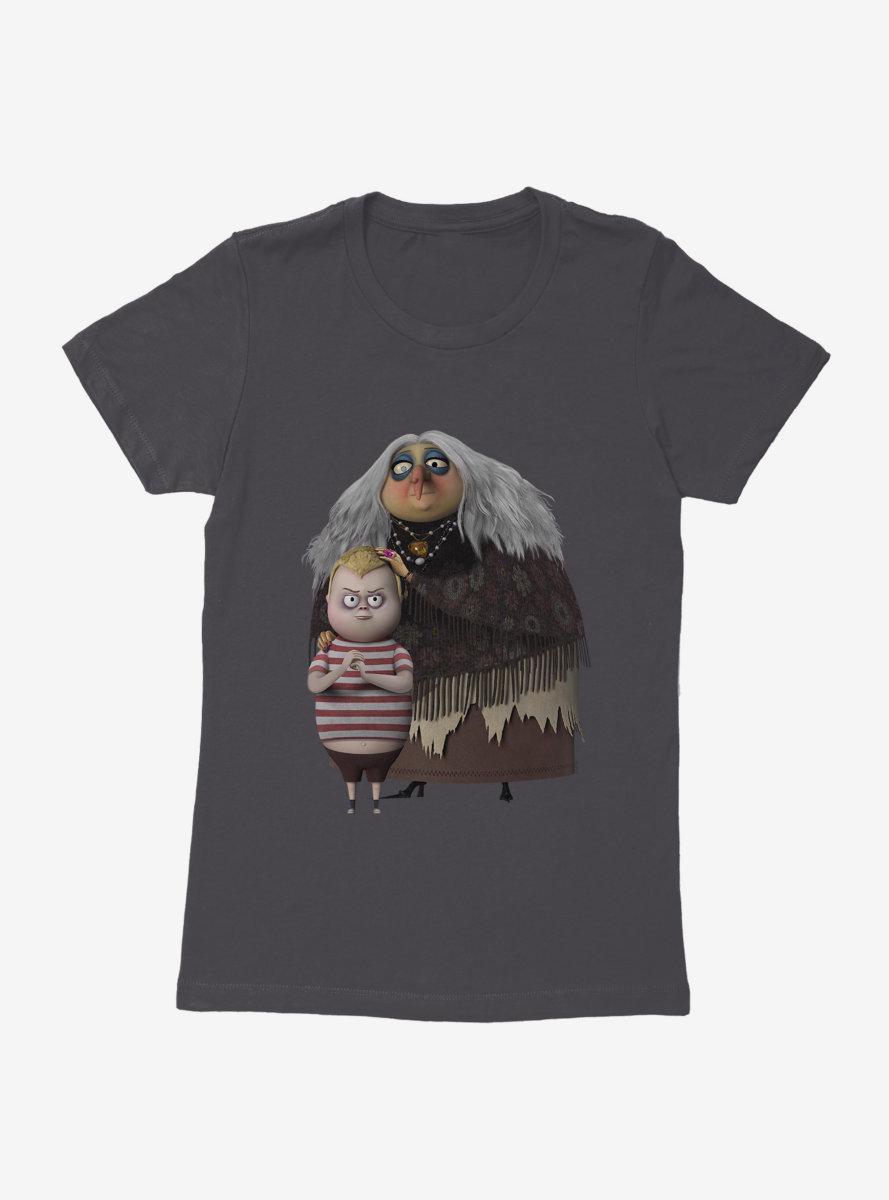 The Addams Family Grandmama And Pugsley Womens T-Shirt