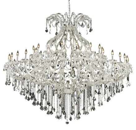 2800G72C/SS 2800 Maria Theresa Collection Large Hanging Fixture D72in H60in Lt: 48+1 Chrome Finish (Swarovski Strass/Elements