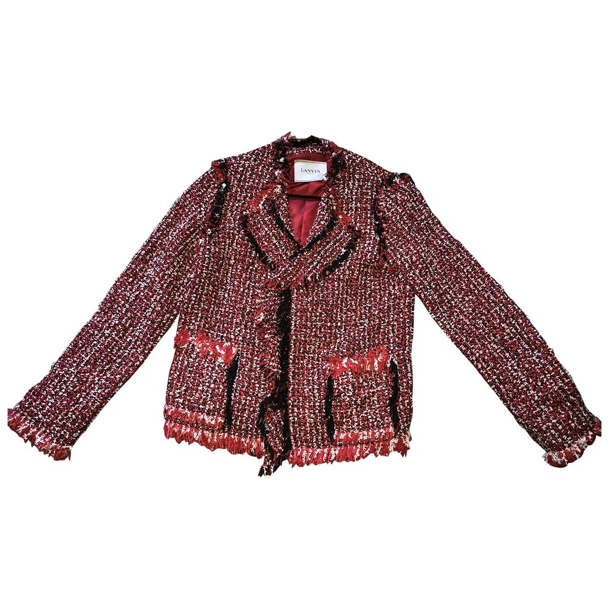 Lanvin \N Red Cotton jacket for Women 38 FR