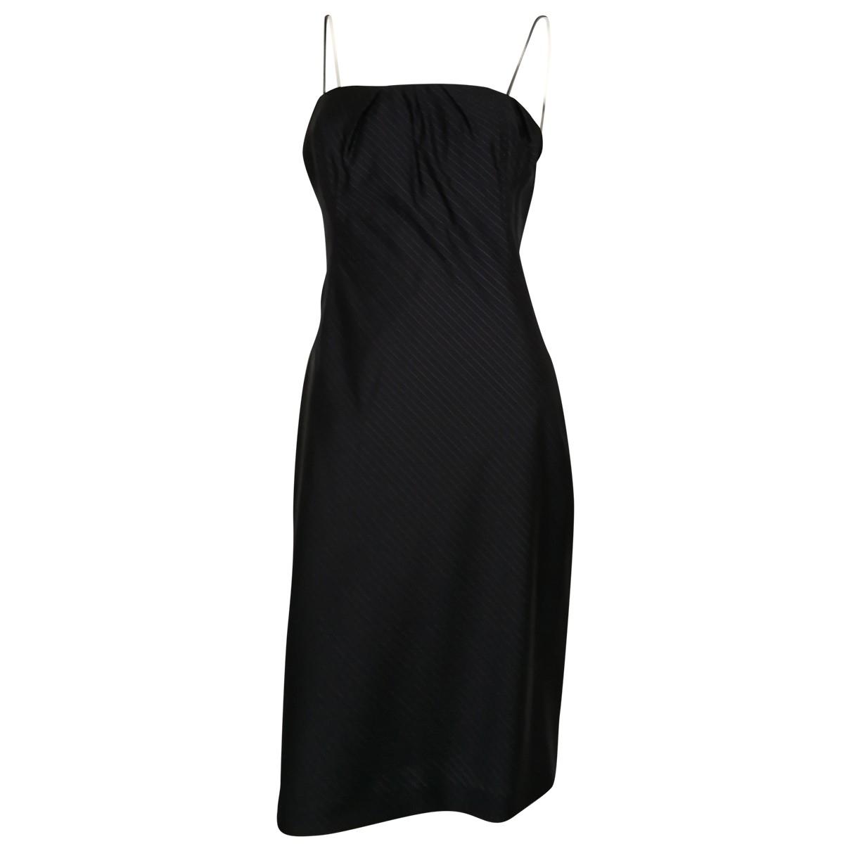 Calvin Klein Collection \N Kleid in  Schwarz Seide
