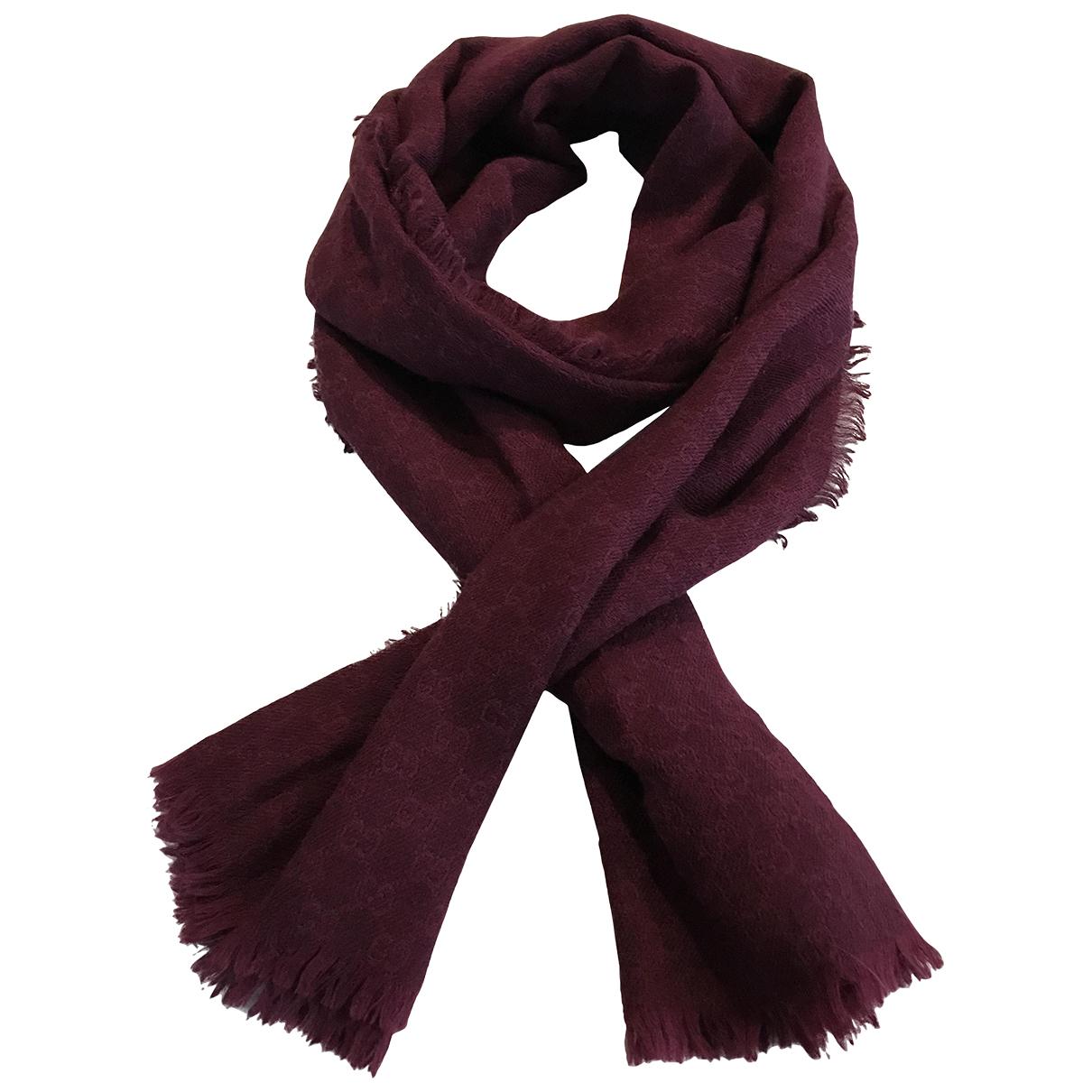 Gucci - Foulard   pour femme en laine - bordeaux