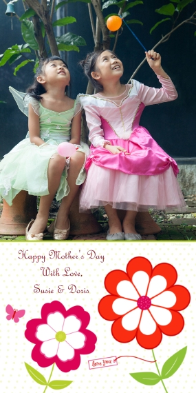 Mothers Day Cards Flat Glossy Photo Paper Cards with Envelopes, 4x8, Card & Stationery -Love You
