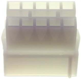 TE Connectivity , Commercial MATE-N-LOK Female Connector Housing, 4.95mm Pitch, 10 Way, 2 Row (5)