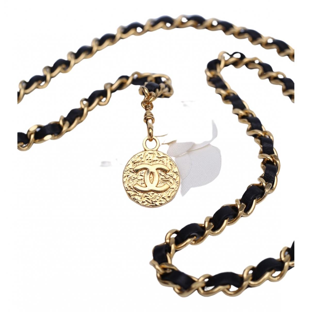 Chanel \N Black Leather belt for Women 95 cm