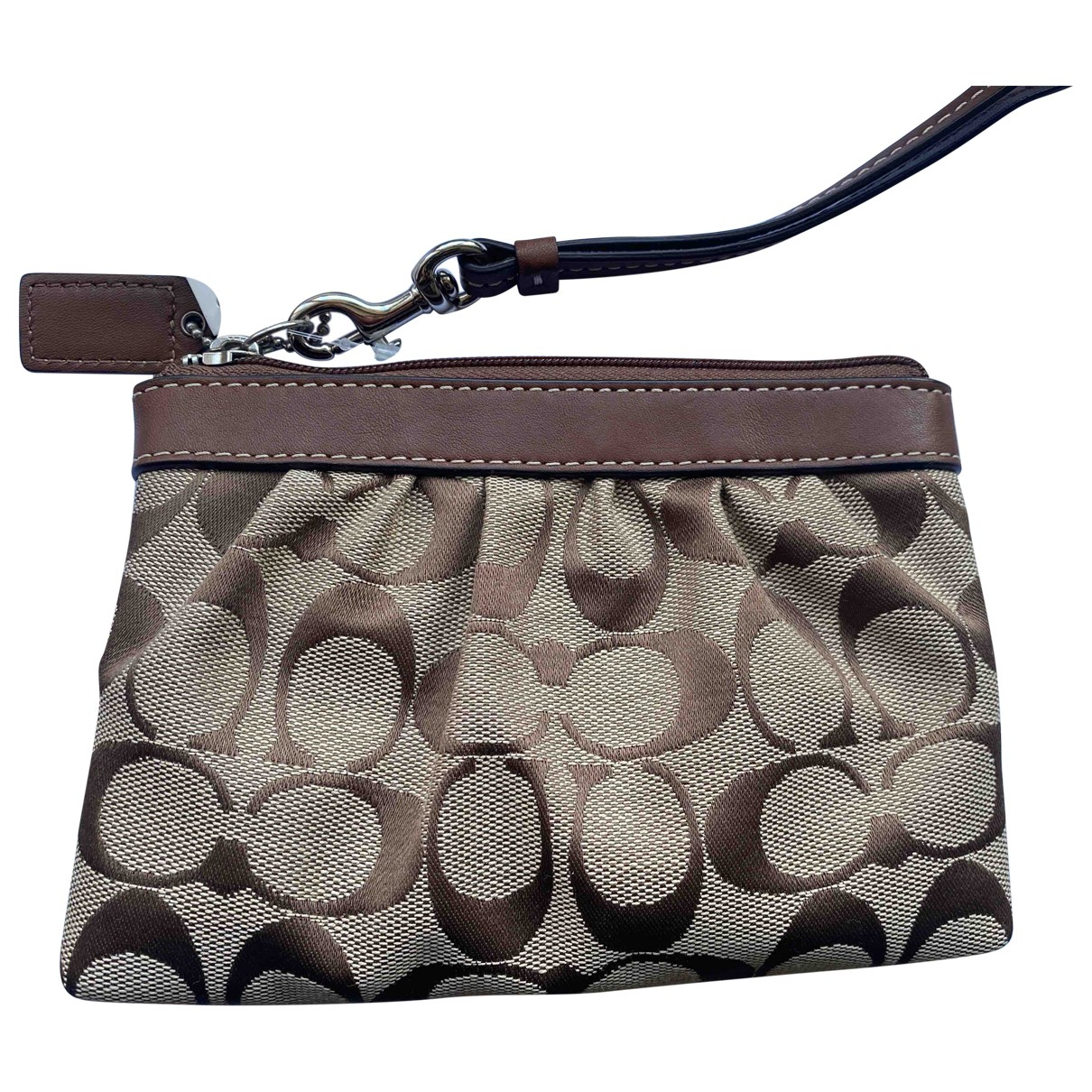 Coach \N Brown Leather Clutch bag for Women \N