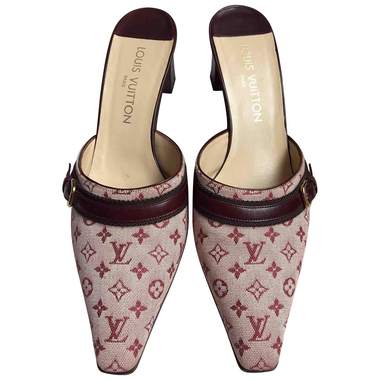 Zuecos de Lona Louis Vuitton