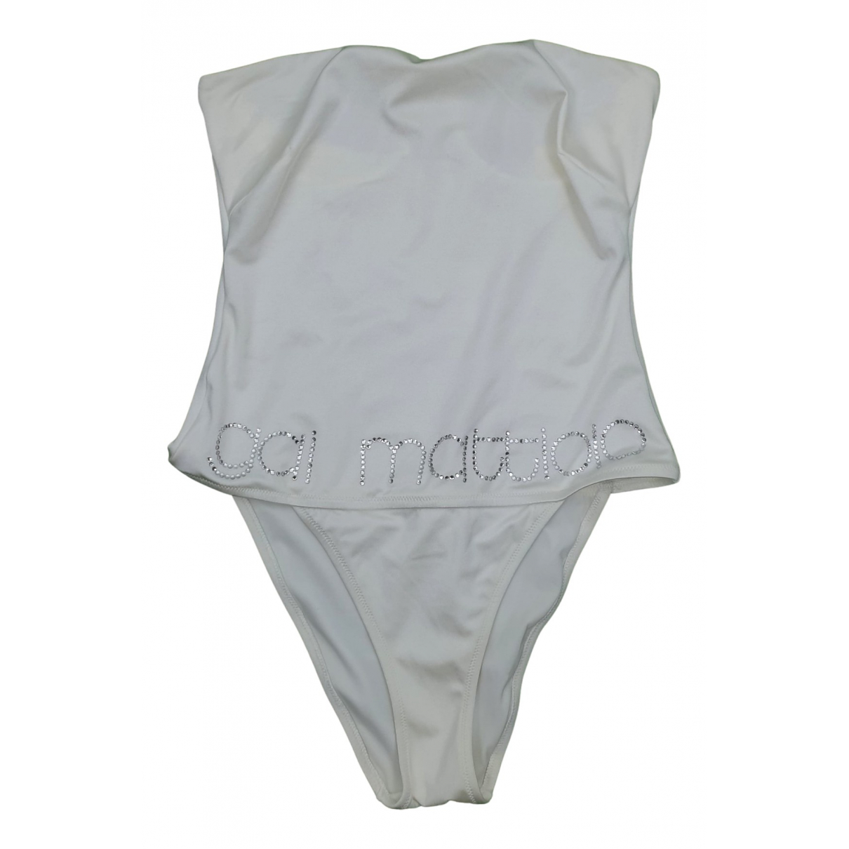 Non Signe / Unsigned \N Badeanzug in  Weiss Lycra