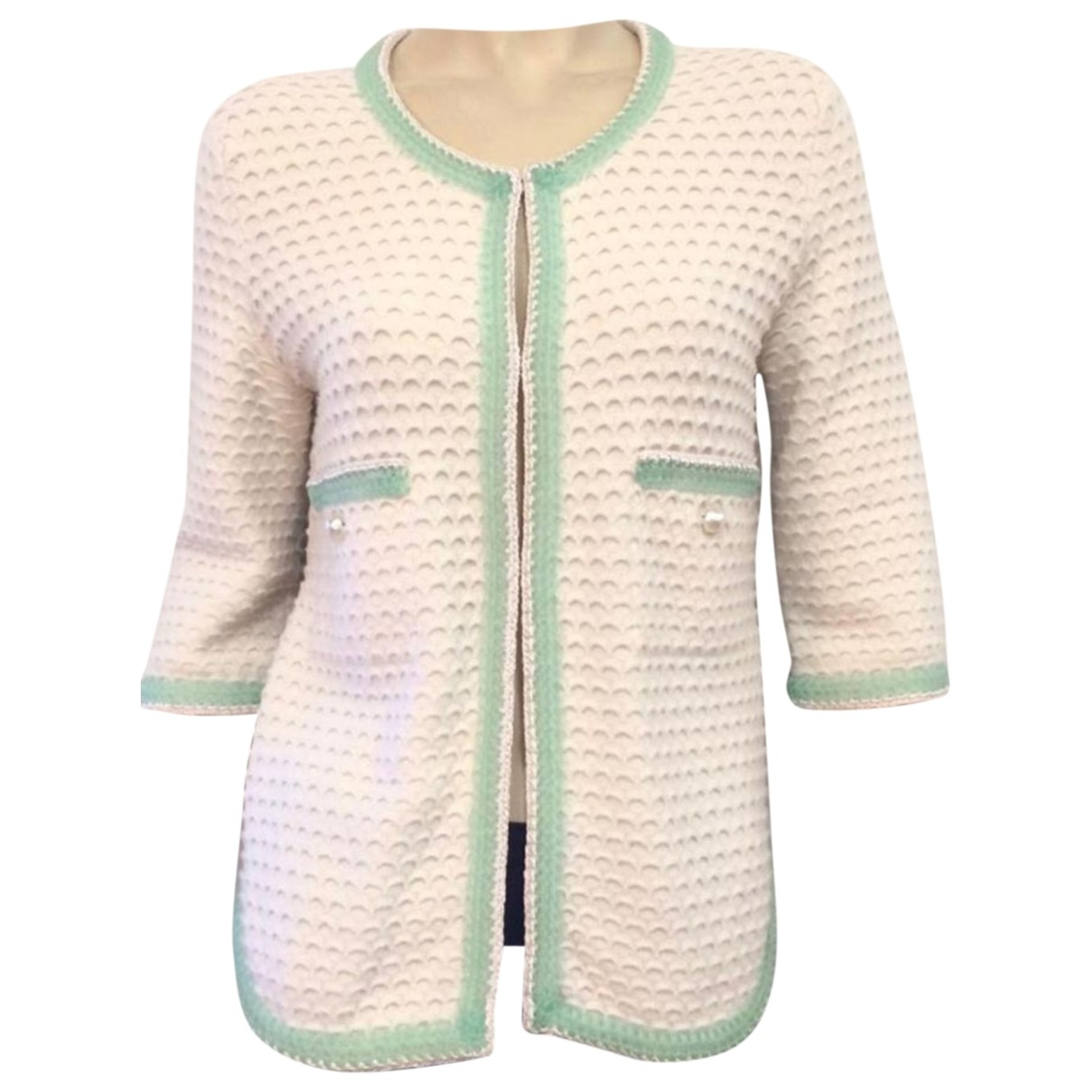 Chanel \N White Cashmere jacket for Women 40 FR
