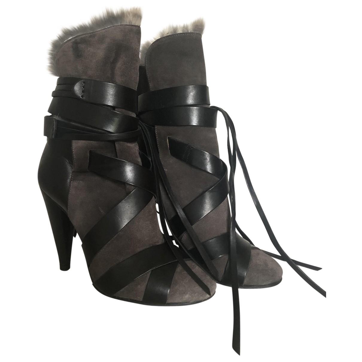 Isabel Marant - Boots   pour femme en suede - gris