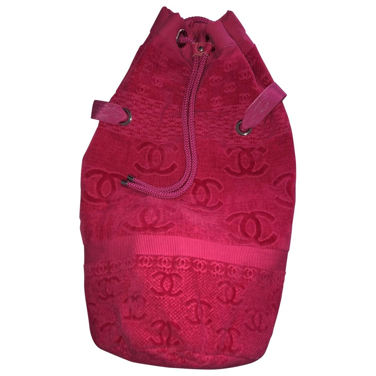 Chanel \N Handtasche in  Rosa Baumwolle