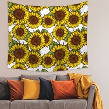 Sunflower Print Tapestry