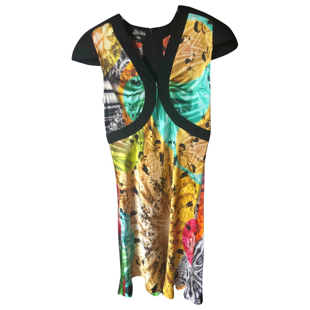 Vestido midi de Seda Jean Paul Gaultier
