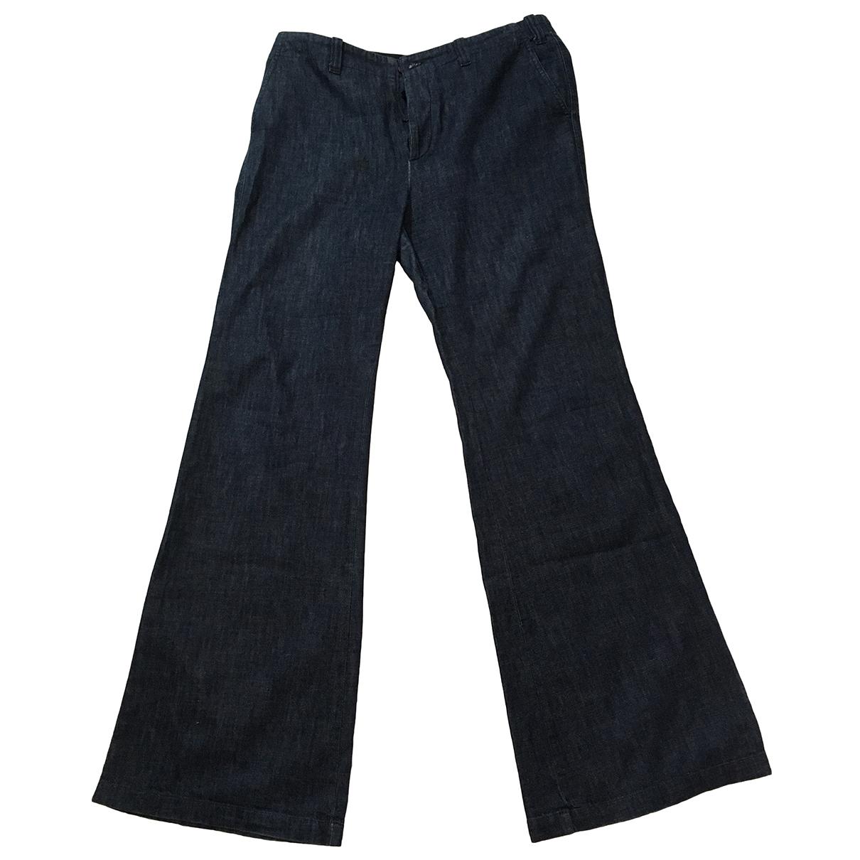 Joseph \N Navy Cotton Jeans for Women 40 FR