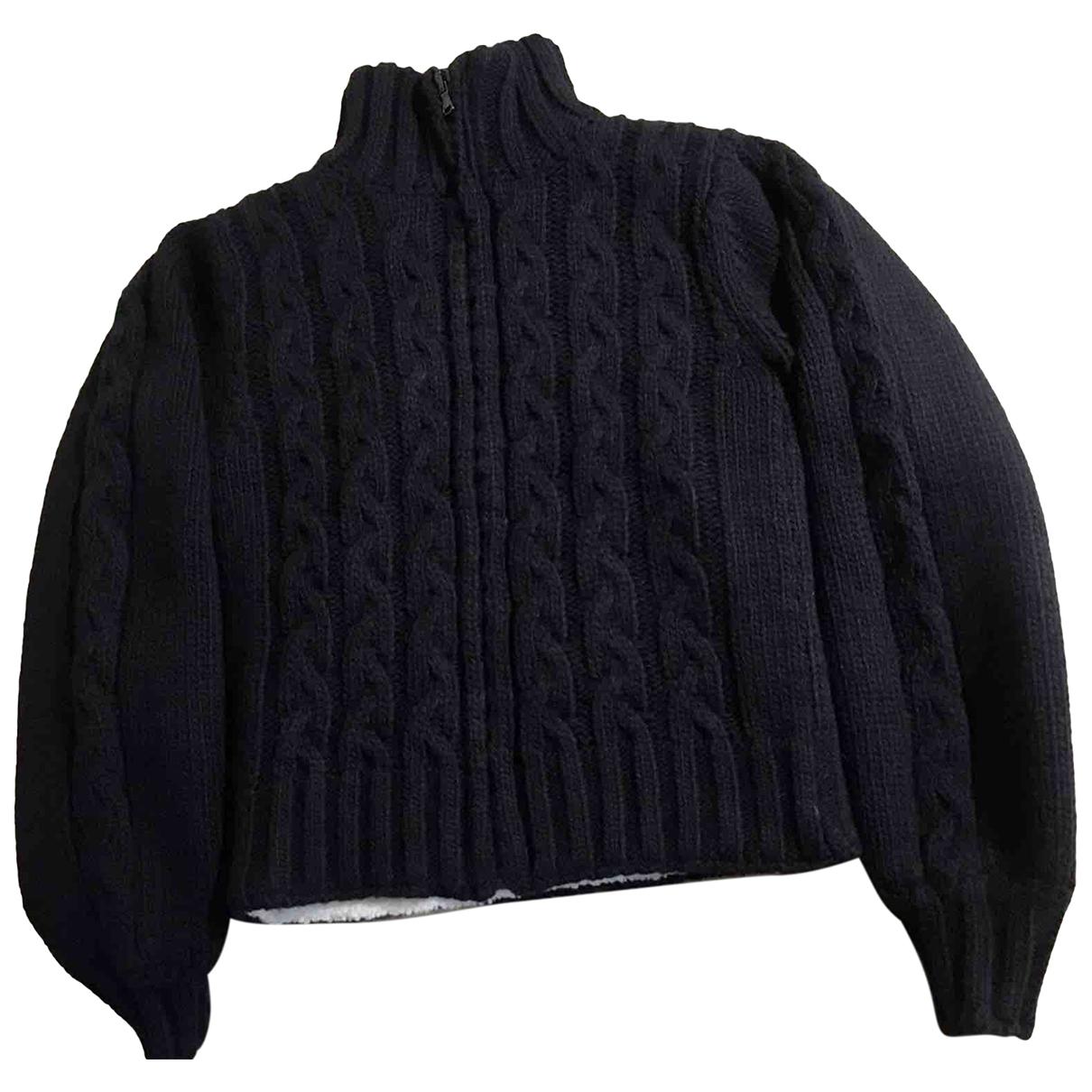 Non Signé / Unsigned \N Black Wool Knitwear for Women S International
