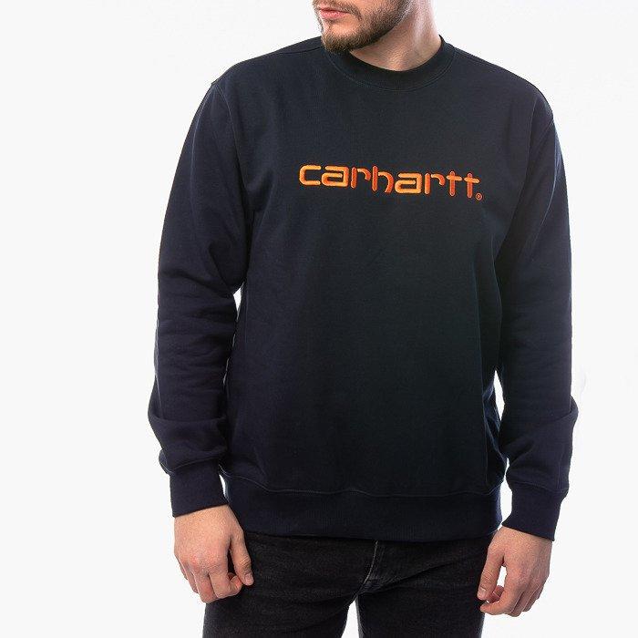 Carhartt WIP Sweatshirt I027092 DARK NAVY/CLOCKWORK