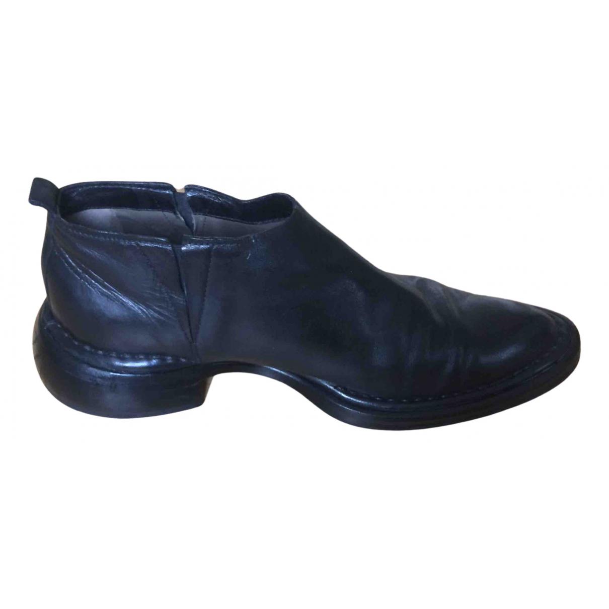 Costume National - Boots   pour femme en cuir - noir