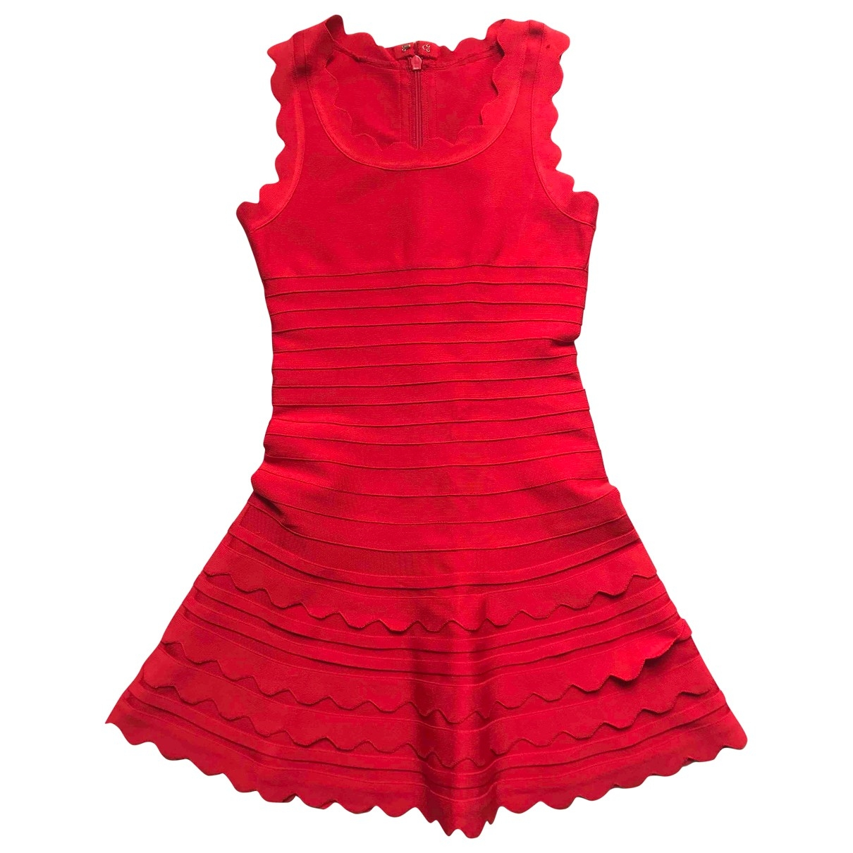 Non Signe / Unsigned \N Kleid in  Rot Viskose