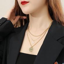 3 Stuecke Halskette mit Buchstaben Praegung