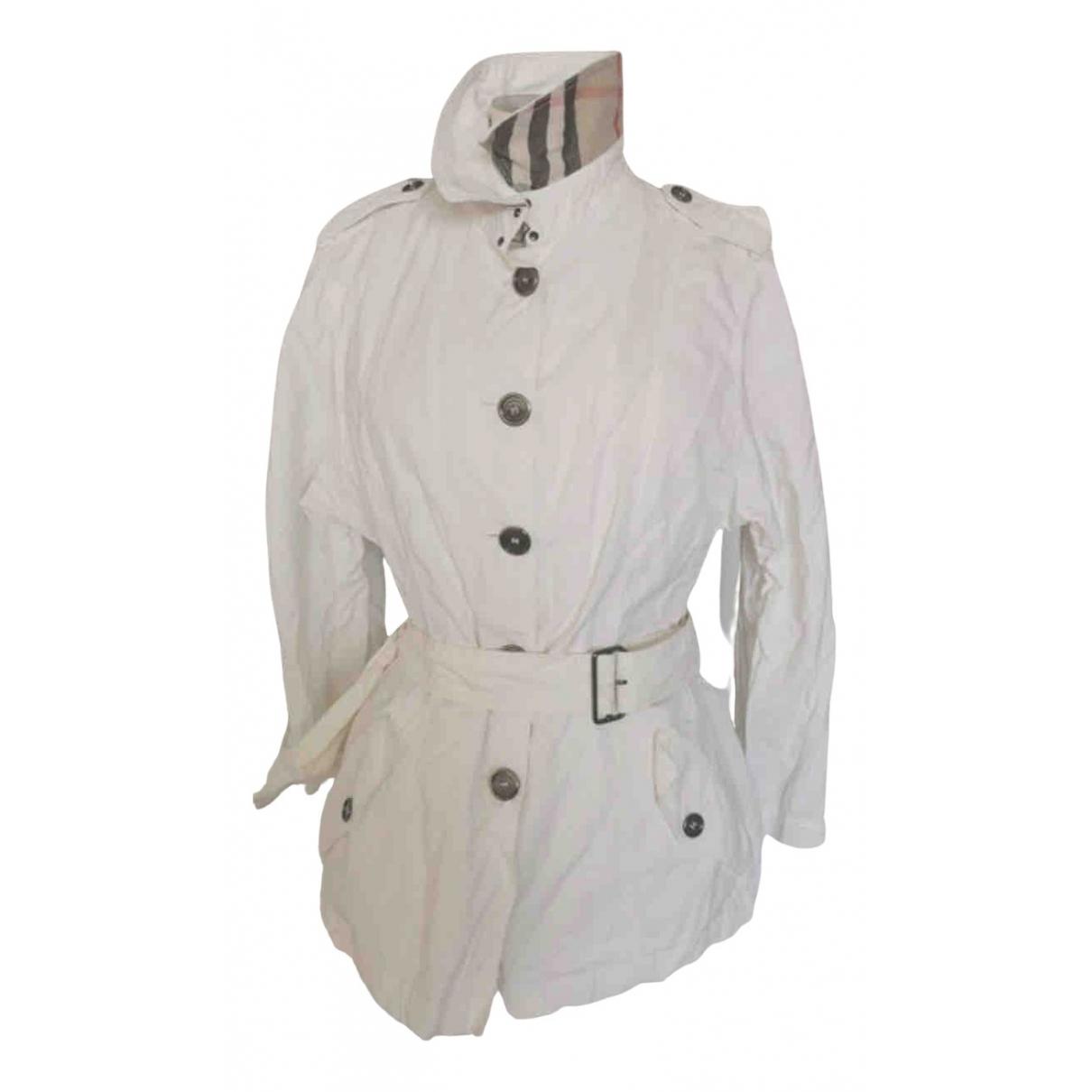 Burberry - Blouson   pour femme en coton - ecru