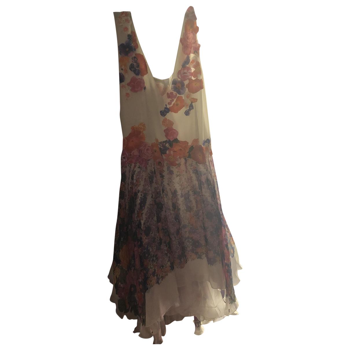 Alberta Ferretti \N Kleid in  Weiss Seide