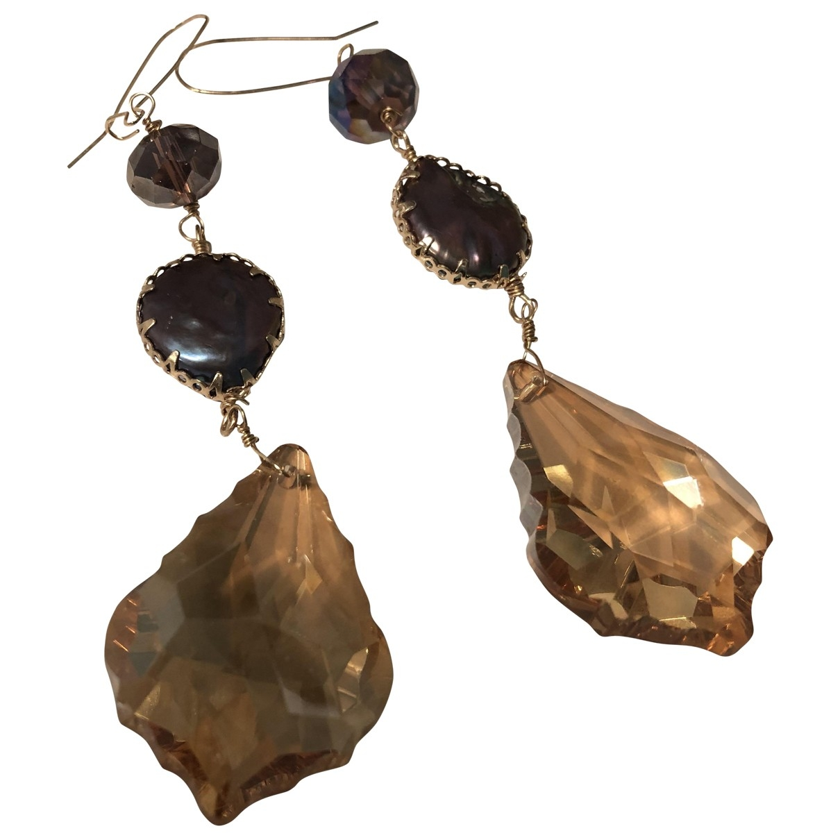Zara - Boucles d'oreilles   pour femme en acier - dore