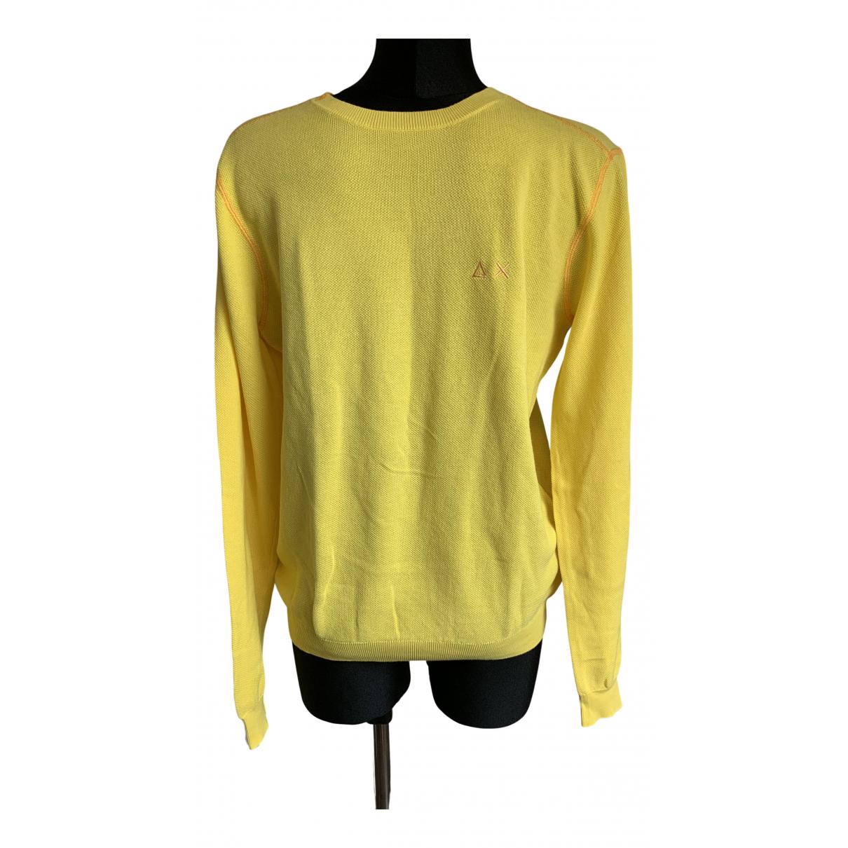 Non Signe / Unsigned \N Pullover.Westen.Sweatshirts  in  Gelb Baumwolle