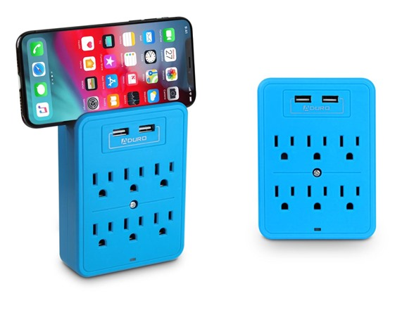Aduro Surge Protector W/ 6 Outlets & 2 Usb - 2 Pk