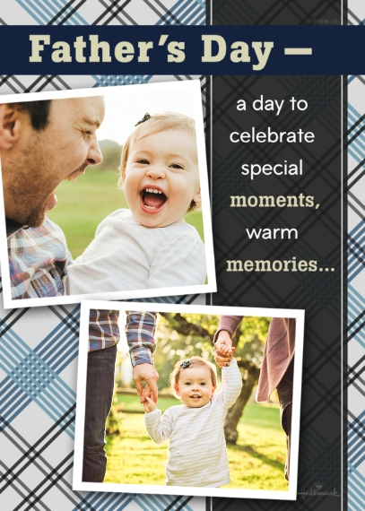 Father's Day 5x7 Folded Cards, Premium Cardstock 120lb, Card & Stationery -Special Moments, Warm Memories