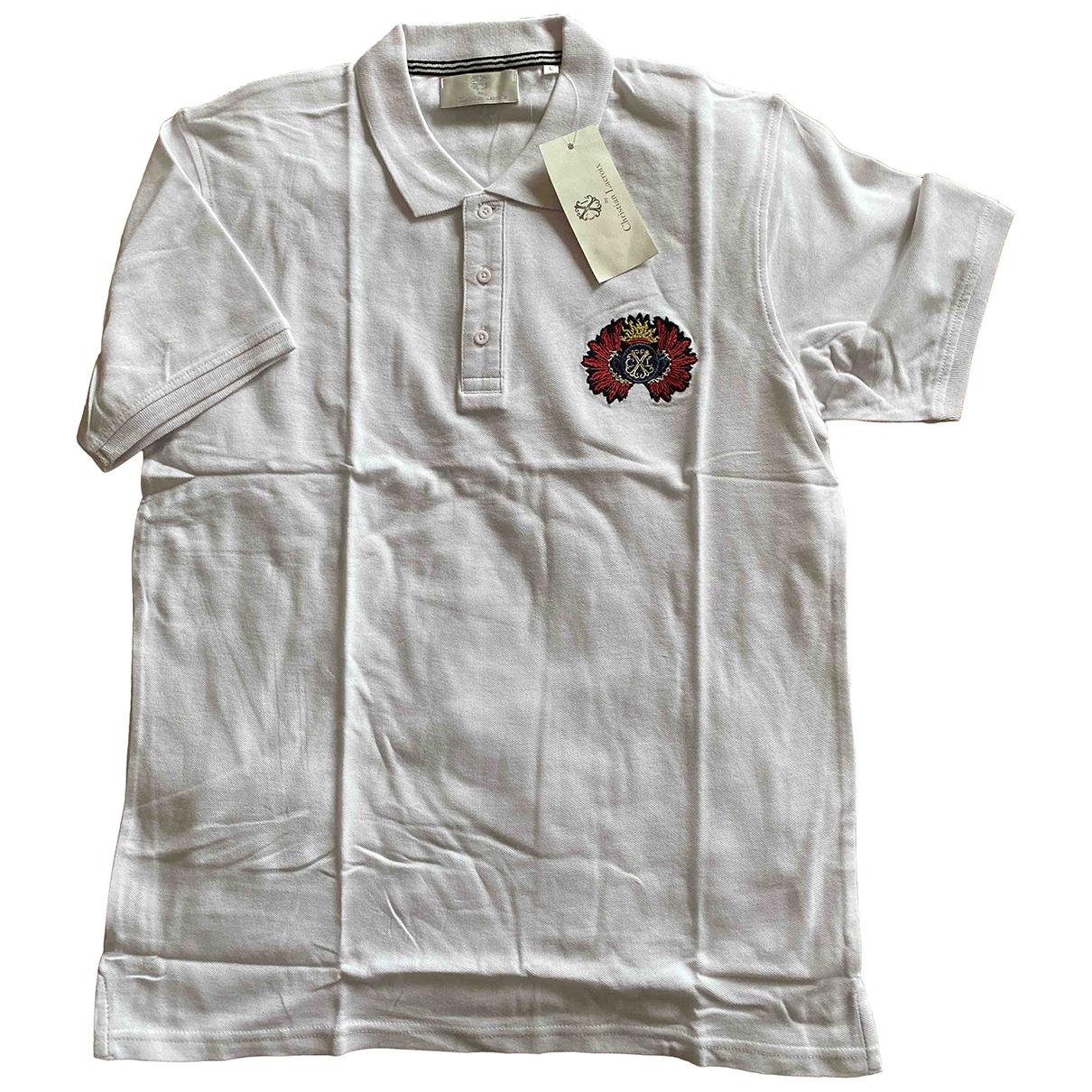 Christian Lacroix - Polos   pour homme en coton - blanc