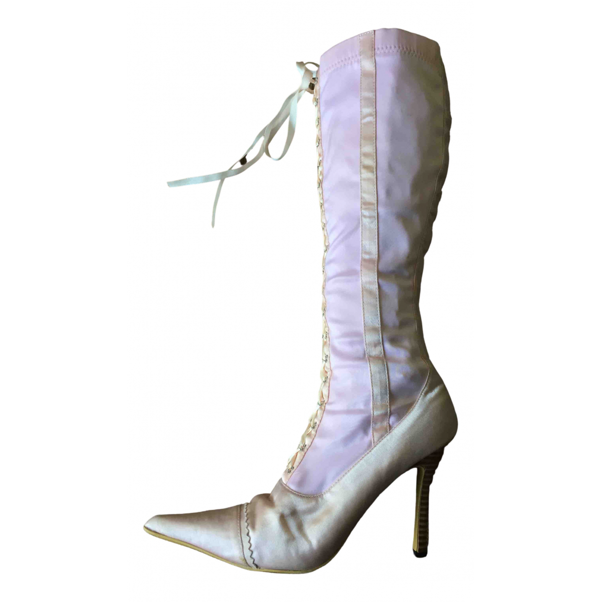 Non Signe / Unsigned \N Stiefel in  Rosa Polyester