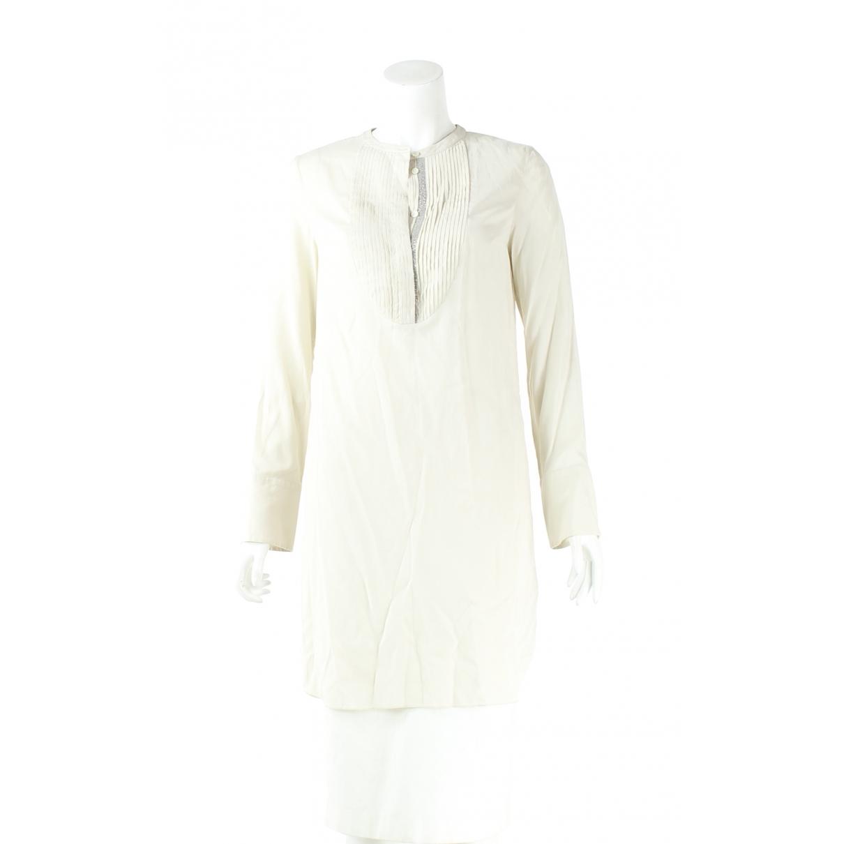Brunello Cucinelli \N Kleid in  Ecru Seide
