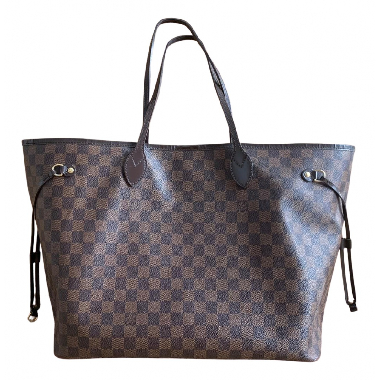 Louis Vuitton Neverfull Handtasche in  Braun Leinen