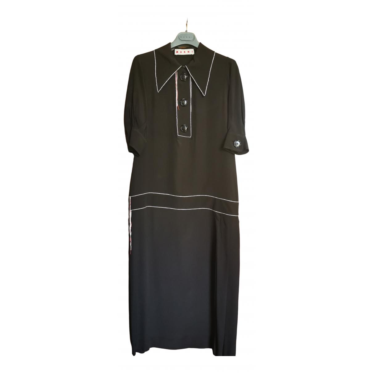 Marni \N Brown Silk dress for Women 38 IT