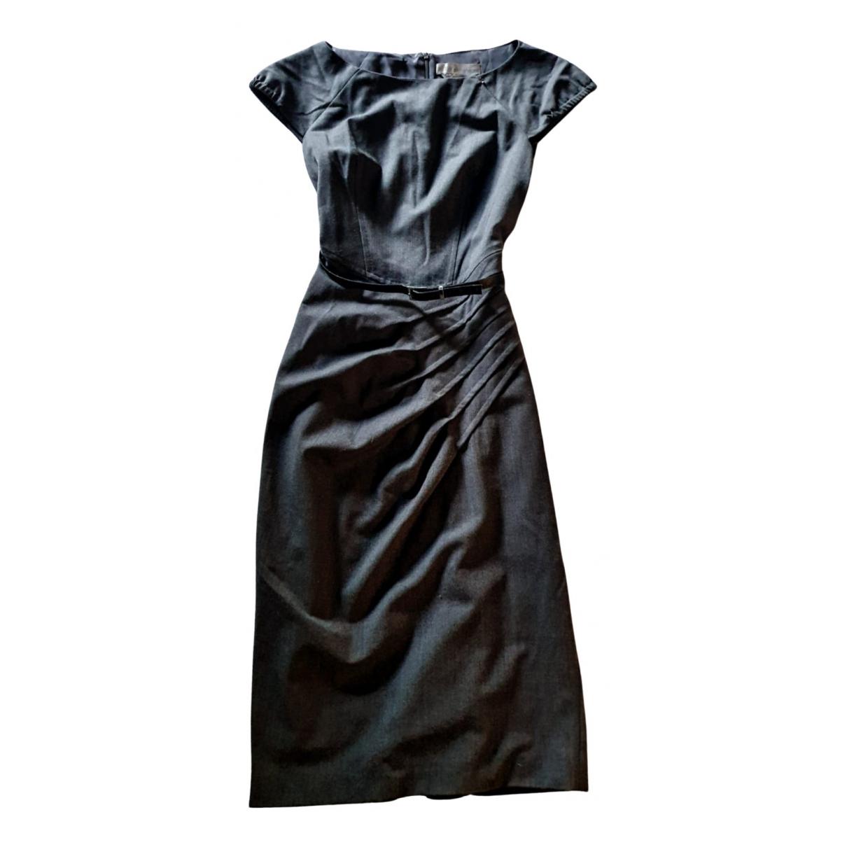 Sport Max \N Kleid in  Grau Baumwolle