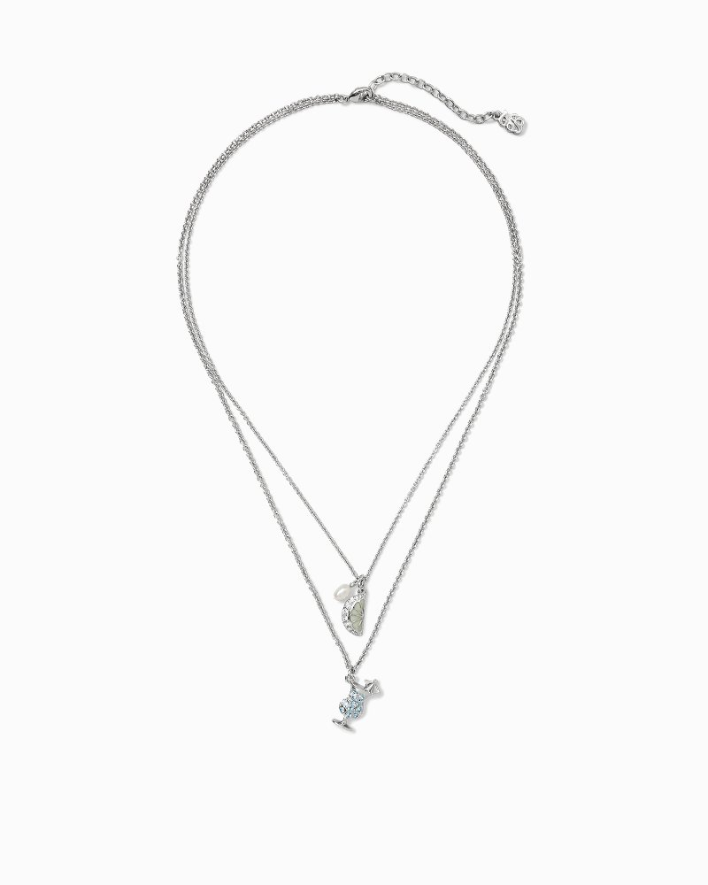 Lime Daiquiri Double Pendant With Swarovski® Crystals