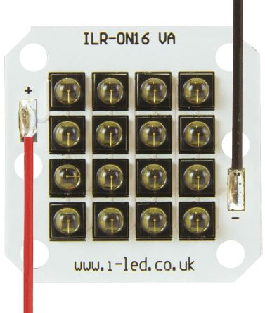 Intelligent LED Solutions ILR-IW16-85SL-SC211-WIR200. ILS, OSLON Black PowerCluster 850nm IR LED Module, PCB SMD package